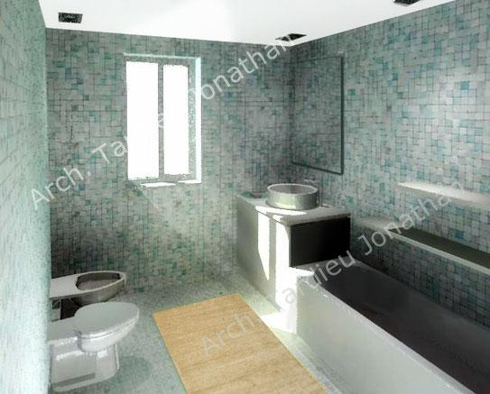 Vista 3d piano primo - bagno