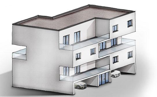 Vorgefertigter Holzbau | modularer sozialer Wohnungsbau