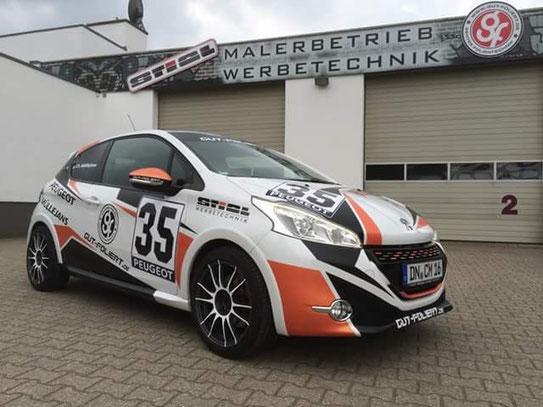 Peugeot 208 gti foliert Designfolierung