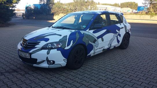 Mazda 3 foliert in Digitaldruck