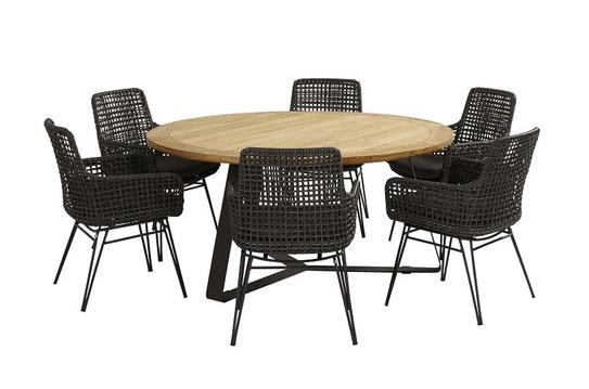 Esstisch Gruppe Gewebte Stühle