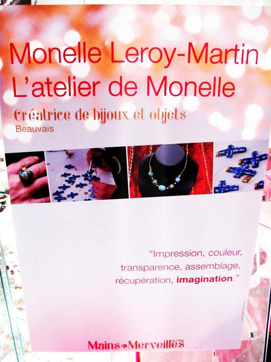 """Affiche de Monelle à l'Expo """"Mains et Merveilles de l'Oise"""" Conseil Régional - 2012"""