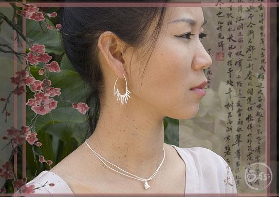 Boucles d'oreilles en argent créateur