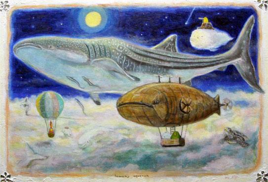 そらの水族館 M20 キャンバスに油彩