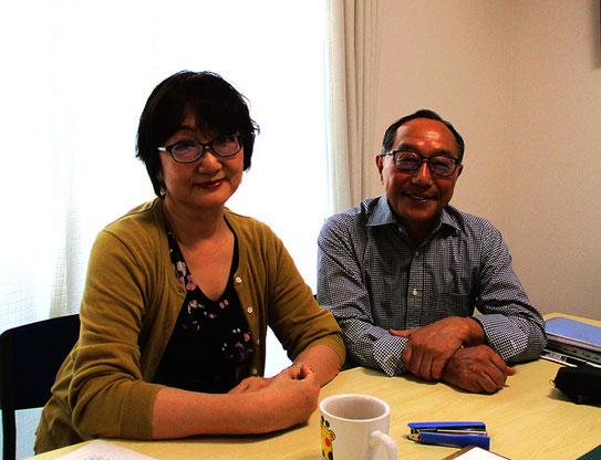 (写真 左:吉川延代先生、右:今野義孝先生)