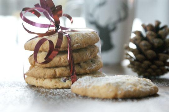 Kokos-Cranberry-Cookies