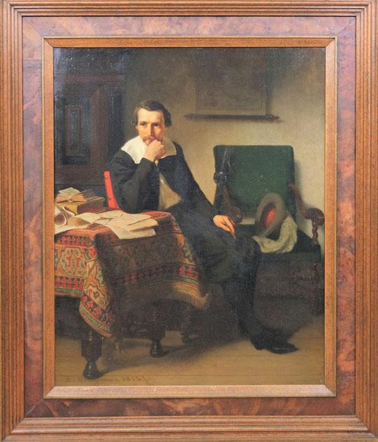 te_koop_aangeboden_een_genre_schilderij_van_de_nederlandse_kunstschilder_lambertus_lingeman_1829-1894