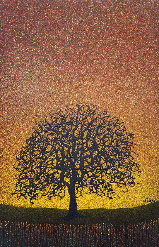 Modern art, contemporary art, nature tree by Khomron, oil on canvas
