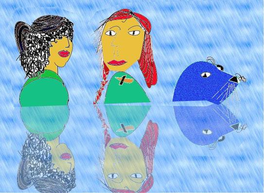 Im Mythos, in Sagen und Märchen, vor allem in irischen Märchen: Nixen im Seehundkleid