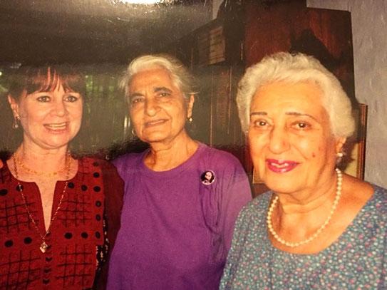Raine with Meheru and Katie Irani ( far right )