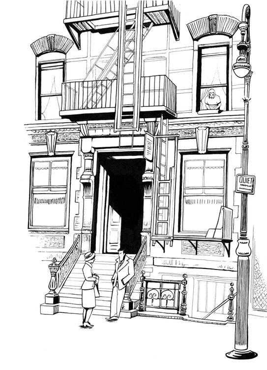 bd-bonnie-and-clayde-croquis-personnages-encrage-ambiance-decors-recherches-salembier-francois-illustration