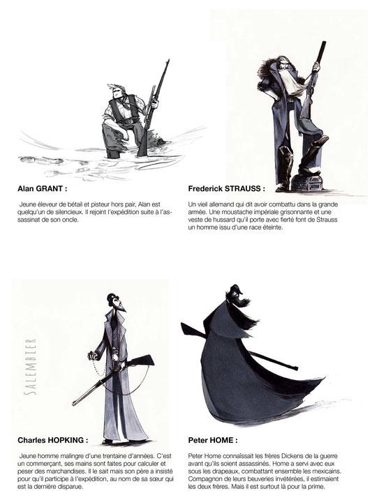 salembier-francois-projet-blackwood-couverture-illustrateur-auteur-de-bd-scénariste-freelance-projet-bd-western-black-wood-francois-salembier-couverture-neige-loup-wolf-winter-hands-blood-brume-personnage-chardesign-chara-design-nb-noir-blanc