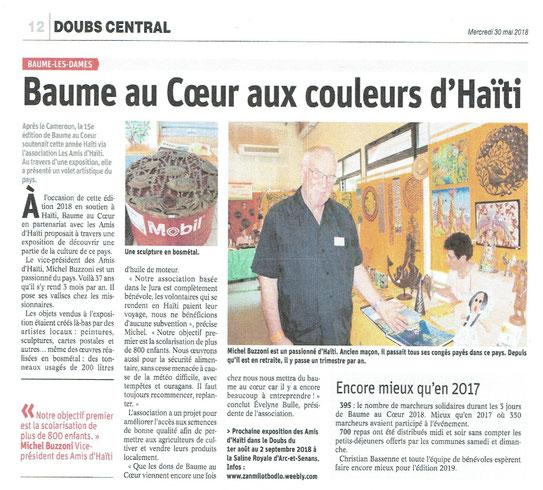 Est Républicain Doubs Mercredi 30 mai 2018