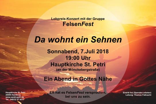 Konzert St. Petri Hamburg. Leitung: Thomas Fassnacht.  mit Rike Reichert, Flöte
