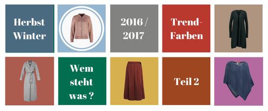 Trendfarben der Saison Herbst Winter 2016 2017 - Outfit-Kombinationen