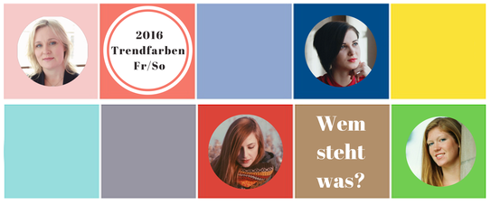 Pantone Trendfarben für die Frühlings- / Sommersaison 2016