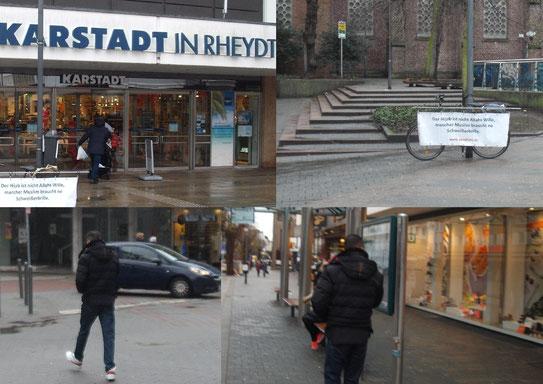 """""""No Hijab Day"""" Rheydt, Mönchengladbach, Marienplatz, Kopftuch, APO Pluto, www.apopluto.de"""