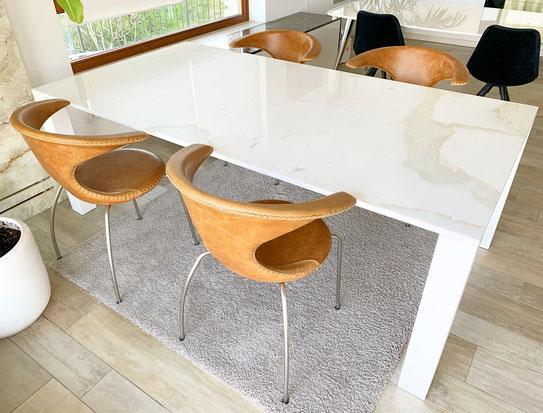 luxe marmer en graniet tafels