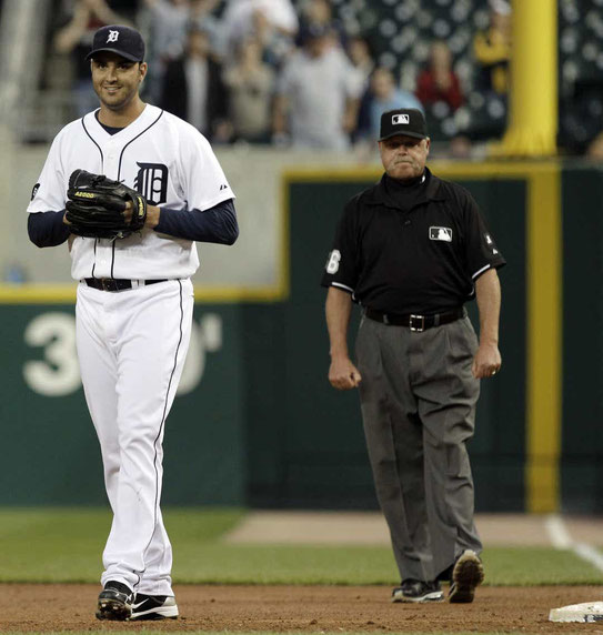 Armando Galarraga  e Jim Joyce (Paul Sancya, Associated Press)