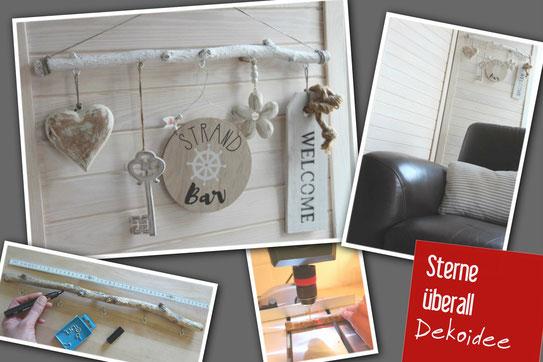 Birkenzweig als Dekohänger selbstgemacht, Fensterdekoration, Dekoideen, DIY, Wohnzimmer, Wohnraumdekoration