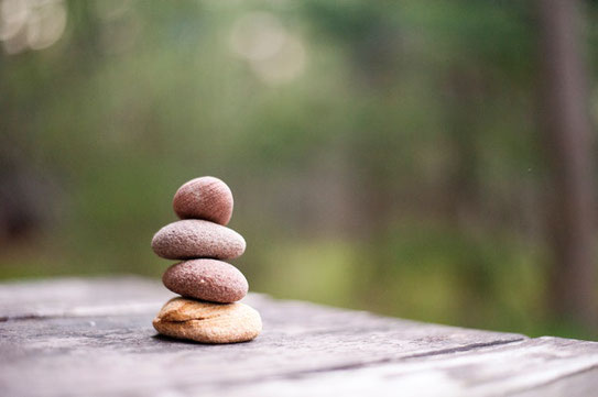 Stacked rocks that symbolize balance and tranquility