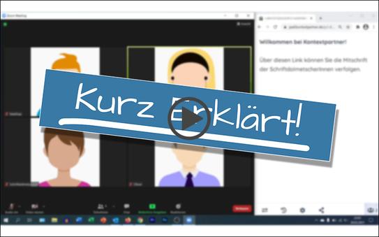 """""""Kurz Erklärt!""""-Video: Live-Mitschrift neben einer Videokonferenz nutzen"""