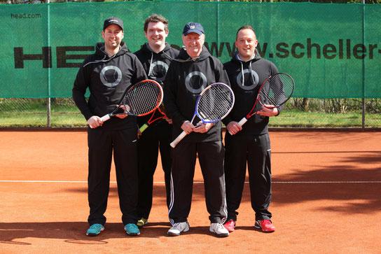 Alexander Moor, Michael Baier, Manfred Moor, Christian Görg, Jannik Ebert Tennistrainer SV Neuhof Tennis