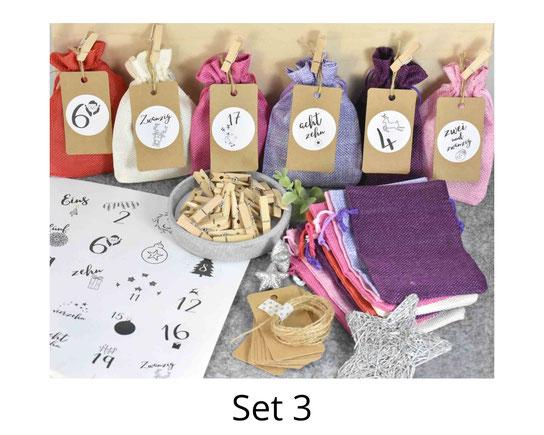 Adventskalender DIY Paket