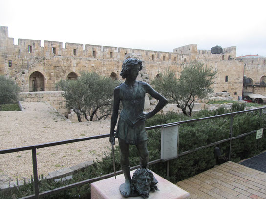 Another young David's statue is placed in Jerusalem's History Museum at the Citadel of David.