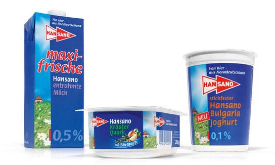 HANSANO - Milch - maxi Frische - Kräuter Quark - Jogurt - Relaunch - Regional - Norddeutschland - Packaging - Design - DesignKis - 2006 - Verpackung