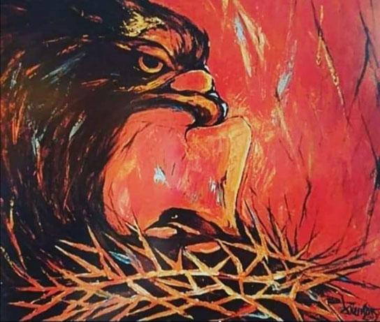Adler - Jesus- Drehbild