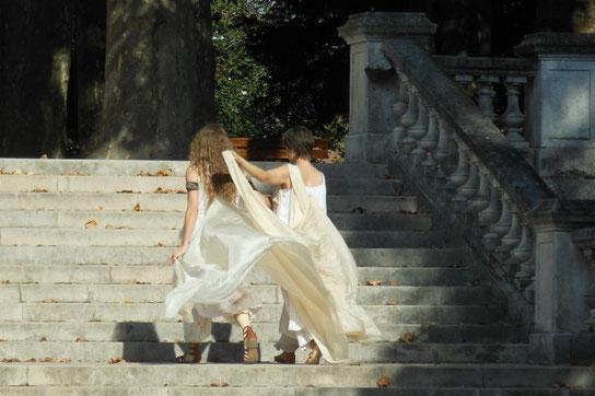 Drachin and Jess_Les Dames du Lac live au Jardin Darcy_merci aux artistes du Marché de la Création à Dijon, pour leur généreux accueil_photo Nicole Clarac Lagès 6 Septembre 2015