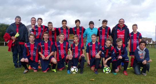 L'équipe U15 de l'AS2A vainqueur face à la JS Miannay-Moyenneville