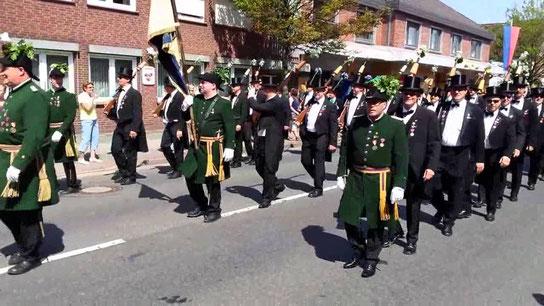 Wildeshauser Gilde mit Offizieren: Screenshot Facebook