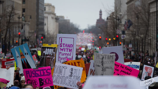 Women's March 2017; CC BY 2.0 Mark Dixon from Pittsburgh, PA