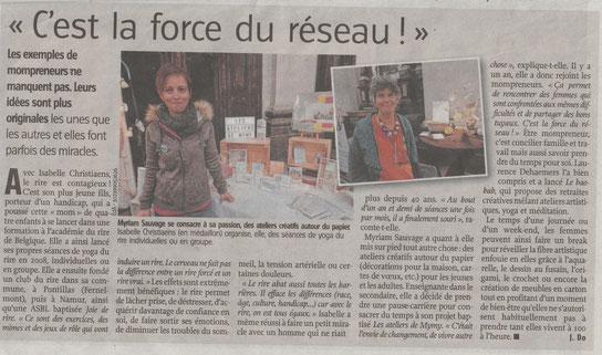Vers l'avenir - article - les mompreneurs exposent à Namur