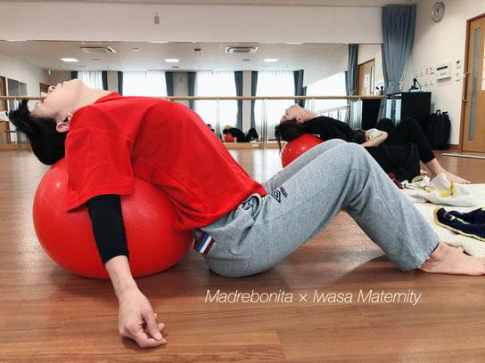 柔軟性も高まって、こんなに反れるように!呼吸も深まって。