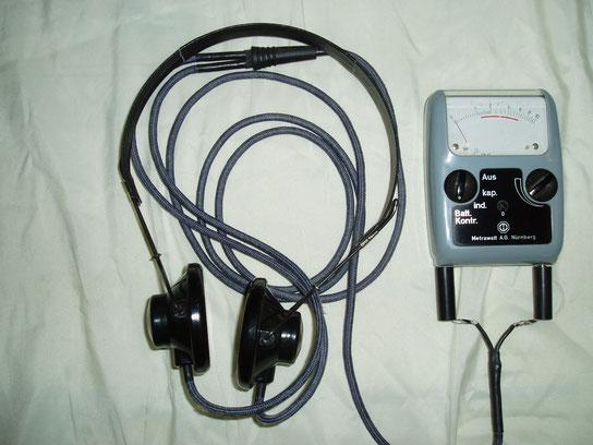 Metrawatt  Leitungssuchgerät Typ. Ls 1 mit Kopfhörer