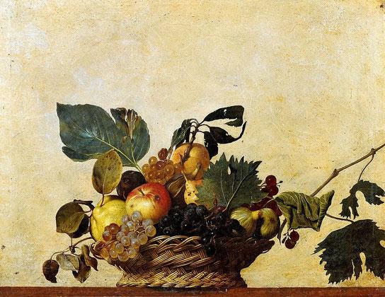 Картины Караваджо - Корзина с фруктами