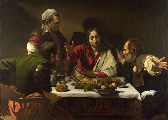 Знаменитые картины Караваджо - Ужин в Эммаусе