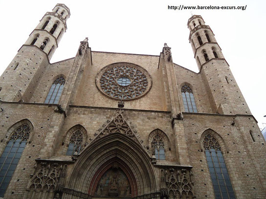 Церковь Санта Мария дель Мар в Барселоне
