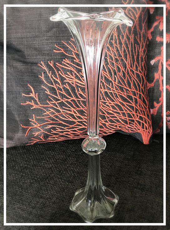große Trompetenvase aus Glas - von Des Pots