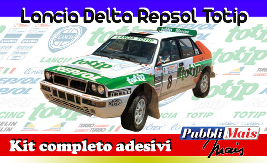 lancia delta evolution evo totip repsol aghini jolly club pubblimais full sticker livery decal sponsor 1993 shop