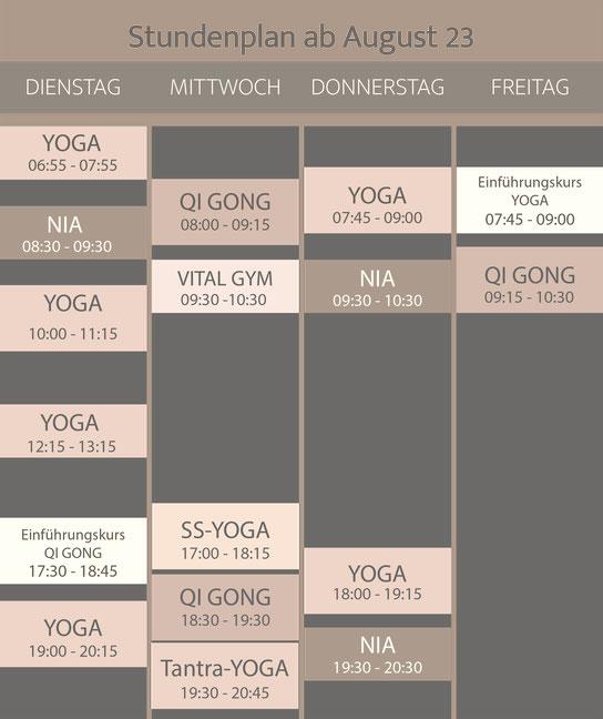 Yoga Stundenplan in Liestal