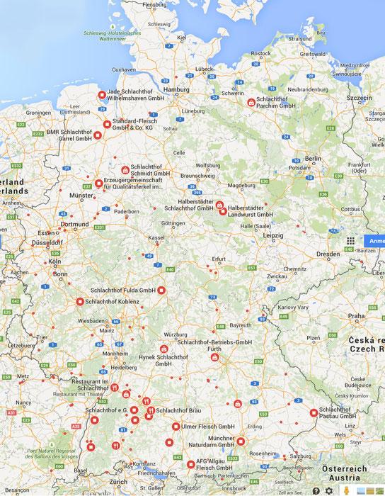 Schlachthöfe in Deutschland