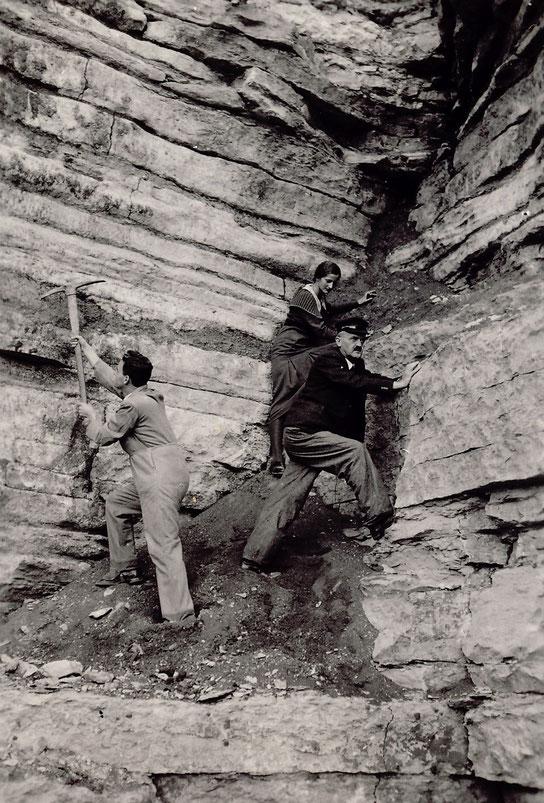1930 Ausflug nach Pittersberg zum Steine oder Versteinerungen suchen