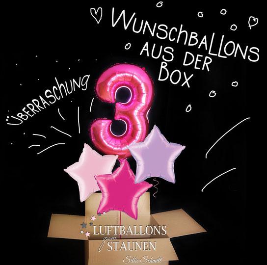 Ballon Luftballon Heliumballon Versand Wunschballon aus der Box in Geburtstag Geburt Baby Kindergeburtstag Überraschung Taufe Hochzeit Kommunion Party Weihnachten Silvester Ostern Oma Opa