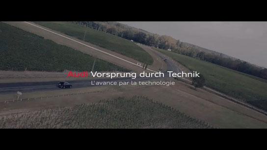 voiture publicite drone corporate video cameraman