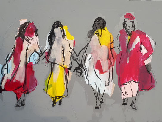 abstrakte Frauen Straße