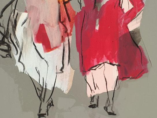 roter Mantel - Modezeichner